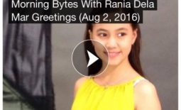 Click & Play : Rania Dela Mar posted a voicemail greetings to all listeners of PinoyRadio Morning Bytes