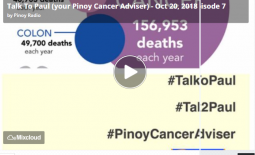Talk To Paul (your Pinoy Cancer Adviser) – Oct 20, 2018 Episode 7