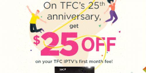 TFC $25 Off Promo