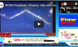 MCBN PinoyRadio – Property Talks with Gizele Mirasol October 6, 2019
