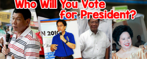 Who Will You Vote for President?