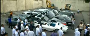 Duterte saksi sa pagdurog ng 20ng luxury cars na nagkakahalaga ng P61.6 million