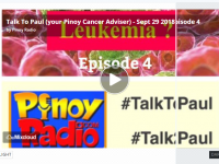 Talk To Paul (your Pinoy Cancer Adviser) – Sept 29 2018 episode 4