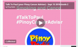 Talk To Paul (Your Pinoy Cancer Adviser) – Sept. 15, 2018 Episode 2
